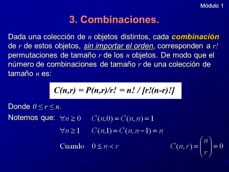C(n,r) = P(n,r)/r! = n! / [r!(n-r)!]